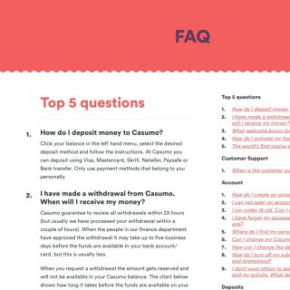 Casumo Casino FAQ