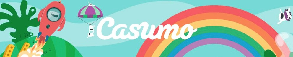 Casumo Casino regnbue banner