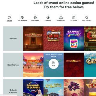 Casumo Casino spilleautomater