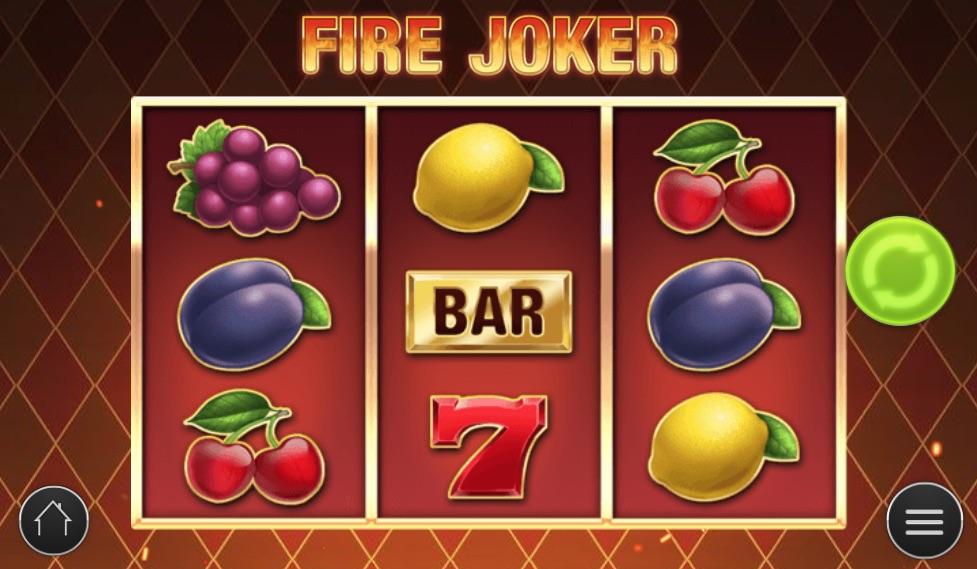 Fire Joker spilleplade med symboler