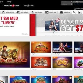 PokerStars Casino forside