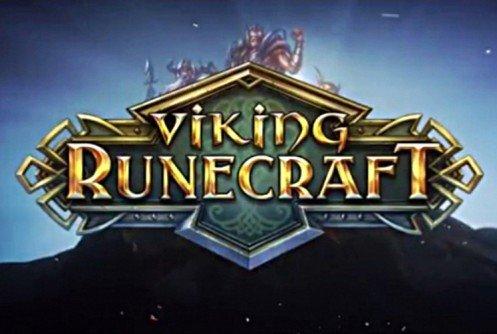 Viking Runecraft Logo Bogstaver med Blå Baggrund