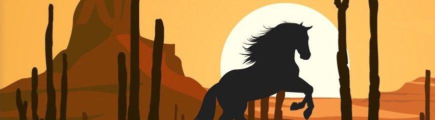 Hest på prærien