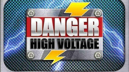 Danger High Voltage Banner