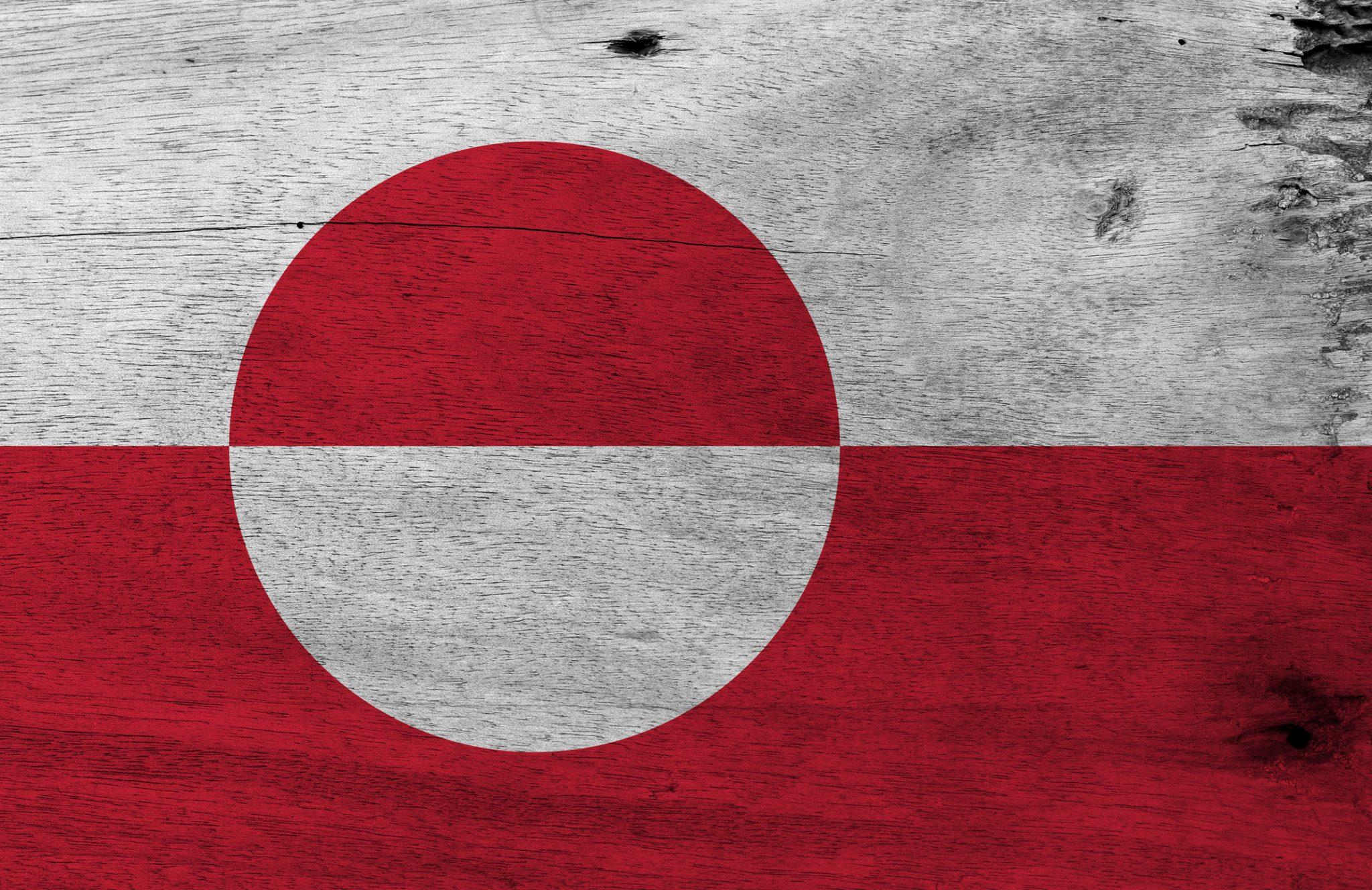 Grønlandsk Flag på Trækasse