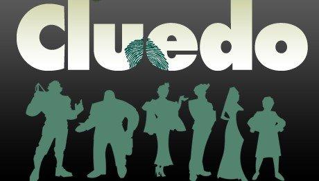 Cluedo Logo med Bogstaver og Silhuetter