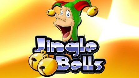 Jingle Bells Logo med Joker og Gul Baggrund