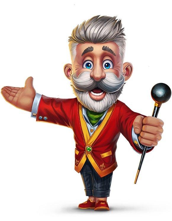 Lucky Louis Figur i Rød Blazer