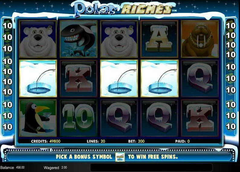 Polar Riches Spilleplade med Symboler