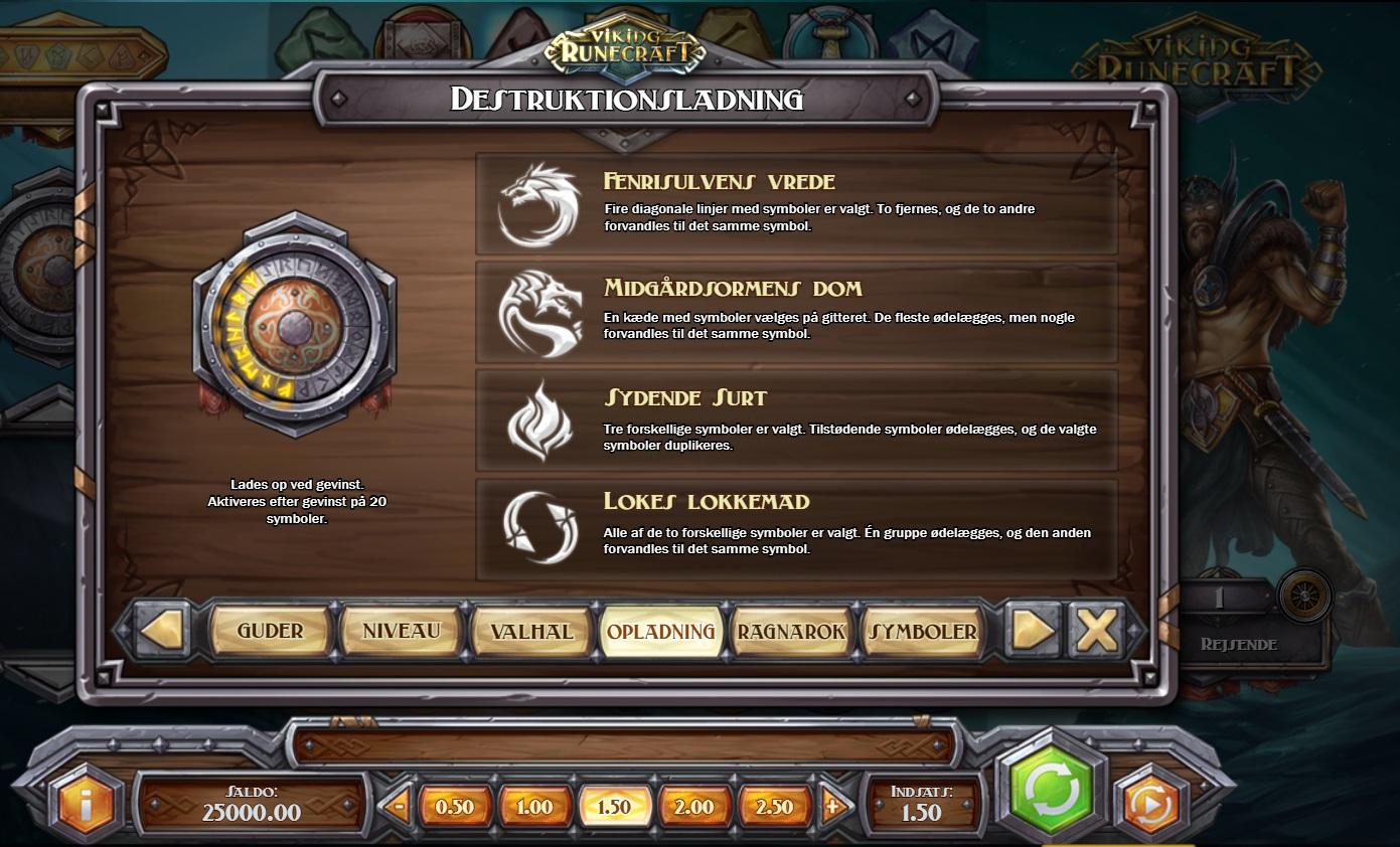 Viking Runecraft Destruktionsladning Feature