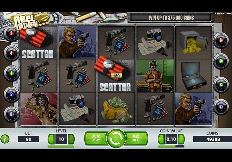 Reel Steal Spilleplade med Scatter Symboler