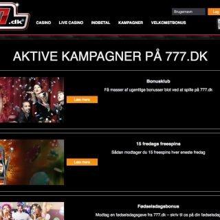 777 kampagner og bonusser