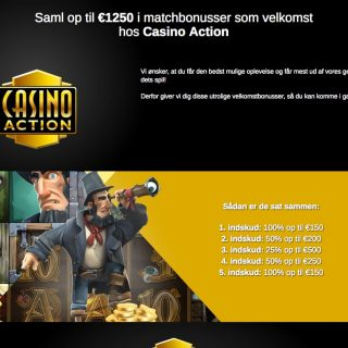 Velkomstbonus på Casino Action side