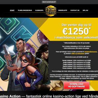 Casino Action hjemmeside