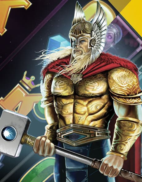 Thor med sin hammer fra Thunderstruck 2