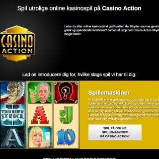 Udvalg af spil hos Casino Action