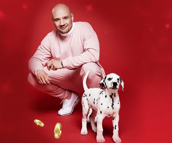 Clemens og hundehvalp