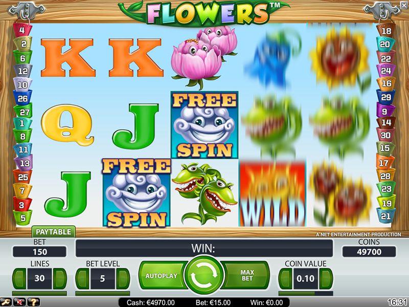Flowers Spilleplade og Symboler