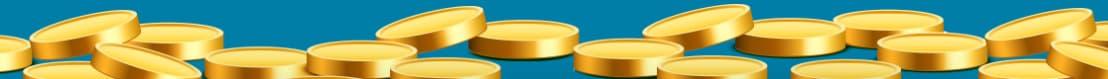 Guldfarvede mønter