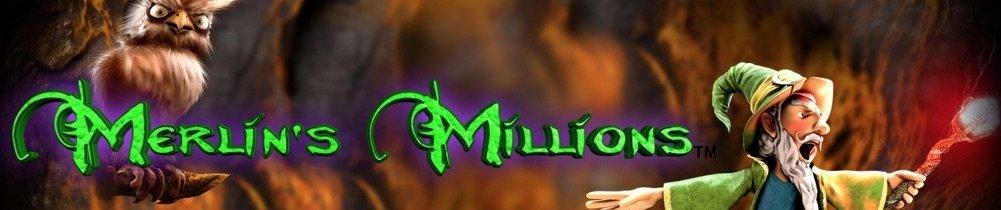 Den grønne troldmand på Merlins Millions banner
