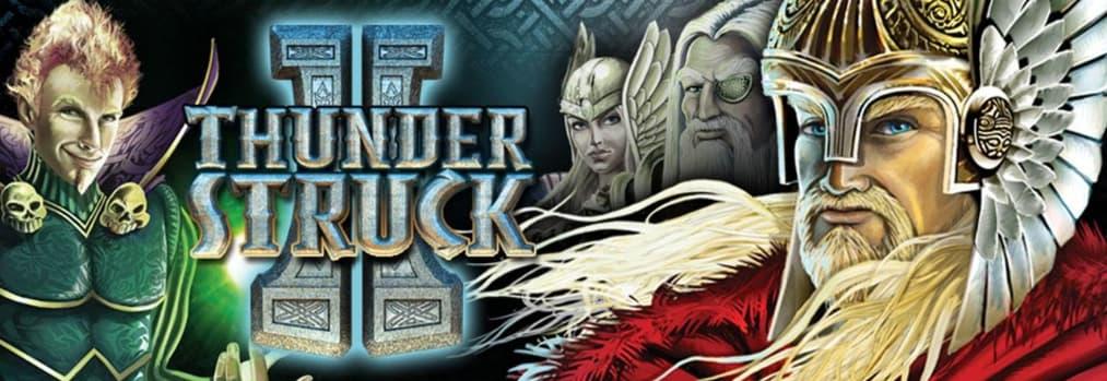 To nordiske guder på Thunderstruck 2 banner