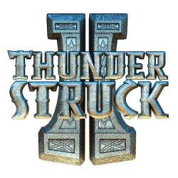 Thunderstruck II Logo Hvidt og Gråt