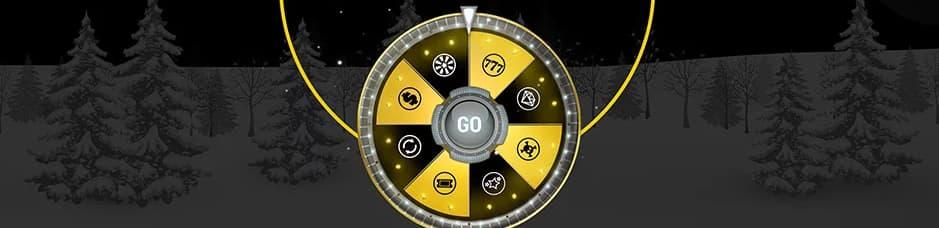 Sort og gult lykkehjul