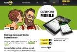 Animeret kvinde og mand med tablet og telefon der har Cashpoint app