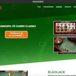 Casino Classic udvalg af spil