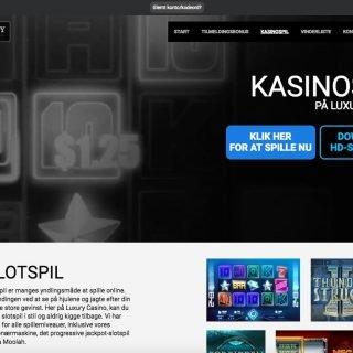 Luxury Casino spiludvalg på siden