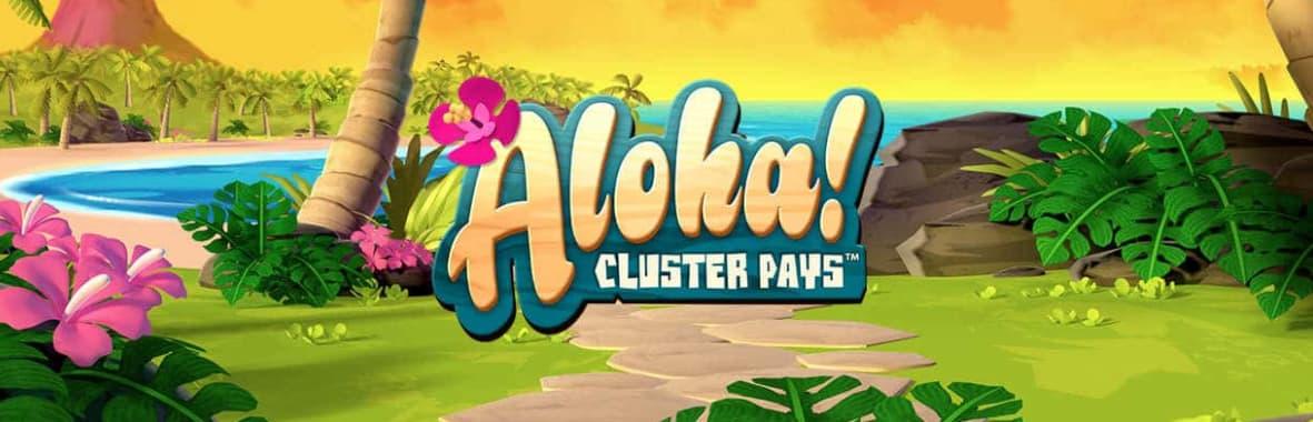 Aloha! spilleautomat banner med logo
