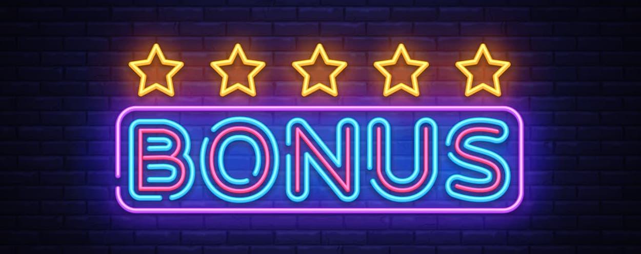 Bonus neon skilt