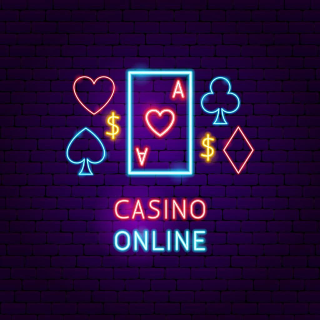 Casino Online neon skilt