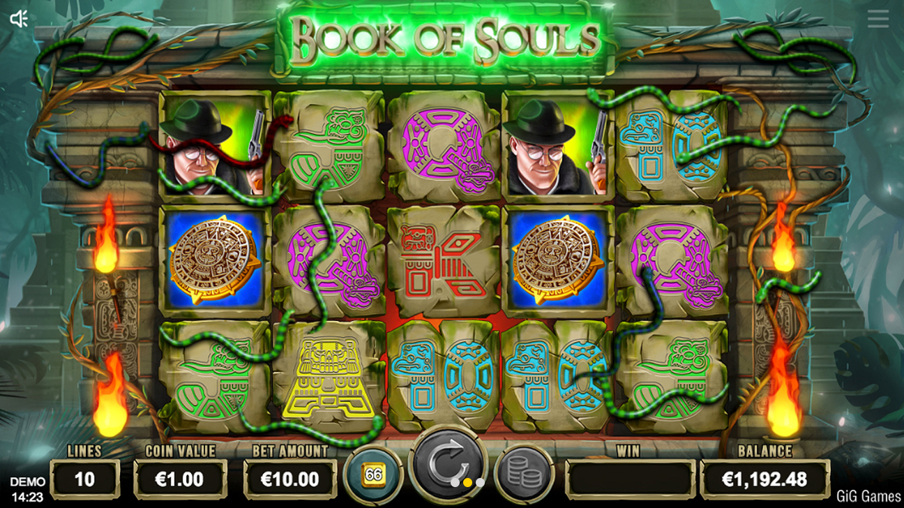 GiG Games Casino Spil Book of Souls