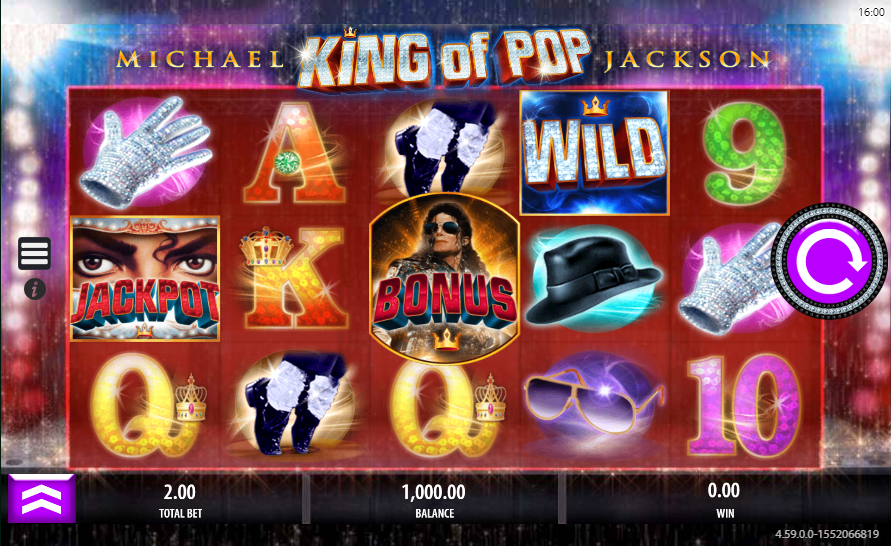 King of Pop Spilleplade med Symboler