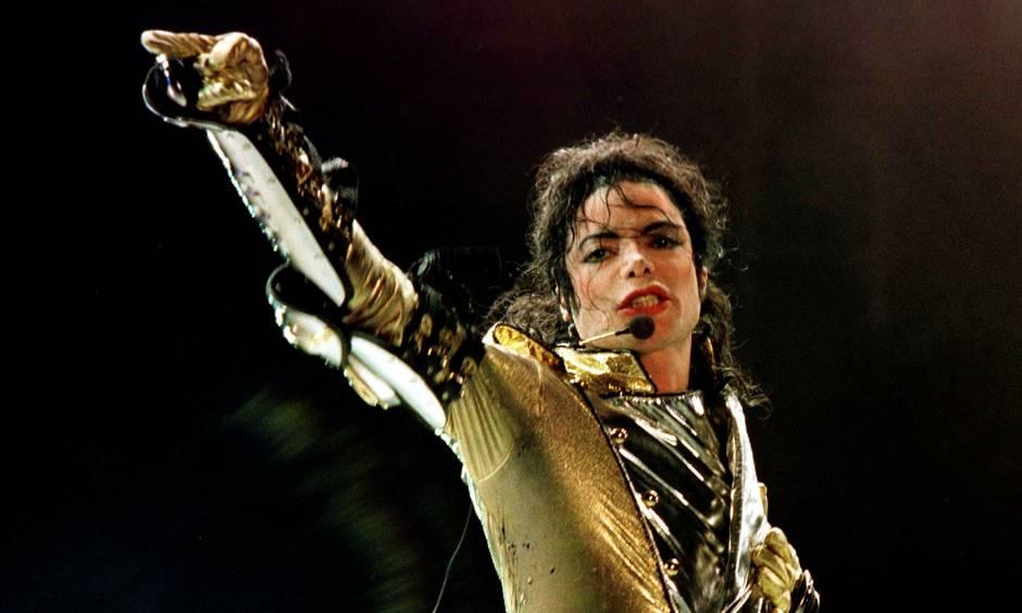 Michael Jackson med Mikrofon