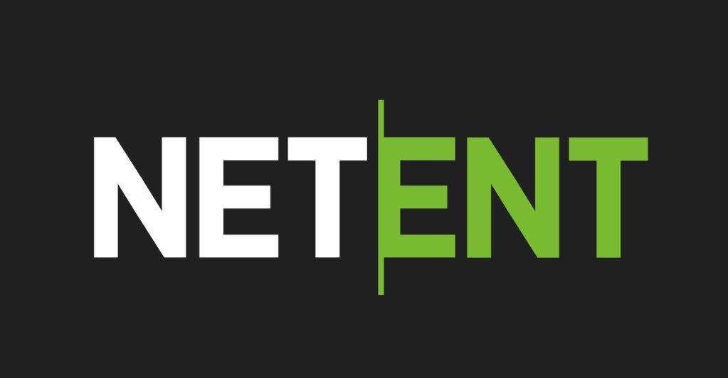 NetEnt logo i sort