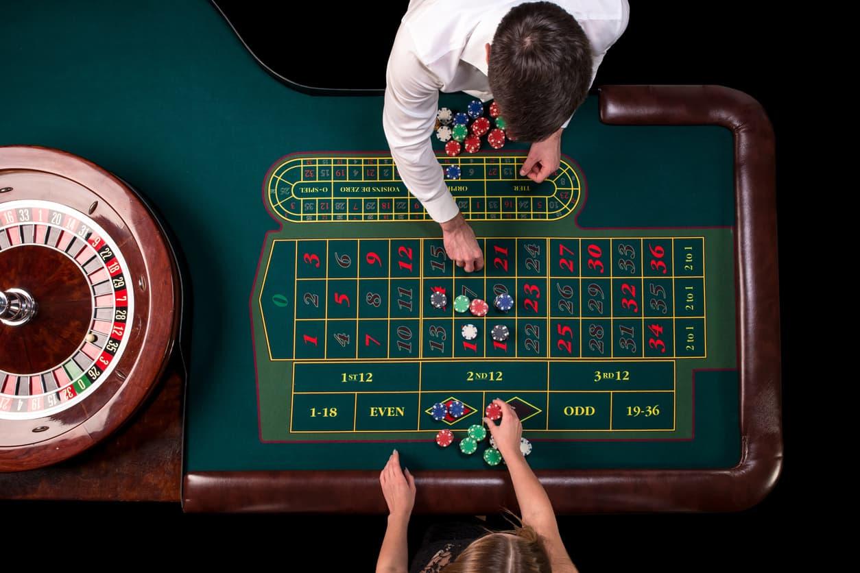 Roulette bord fra oven