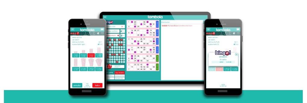 Tombola app til mobil og tablet