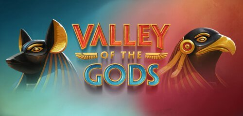 Valley of the Gods Banner med Horus og Anubis