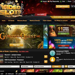 Videoslots Casino forside