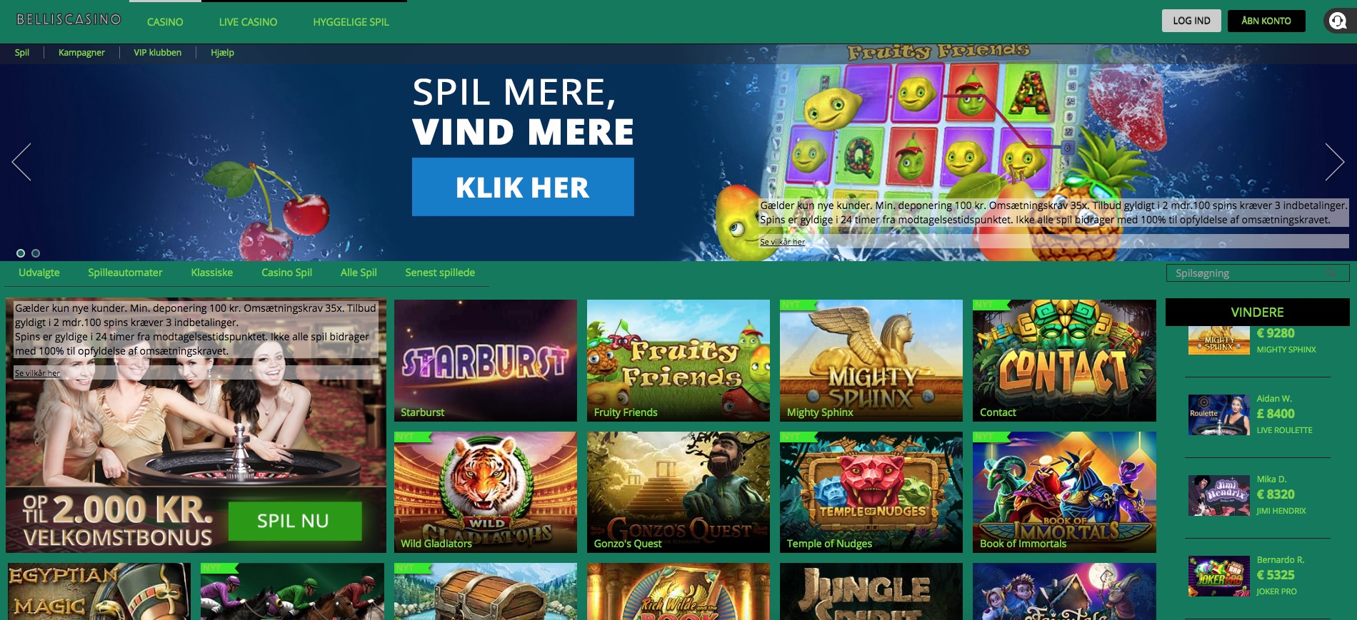 Online casinos canada players