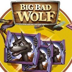 Big Bad Wolf Logo med Ulv og Skilt med Bogstaver