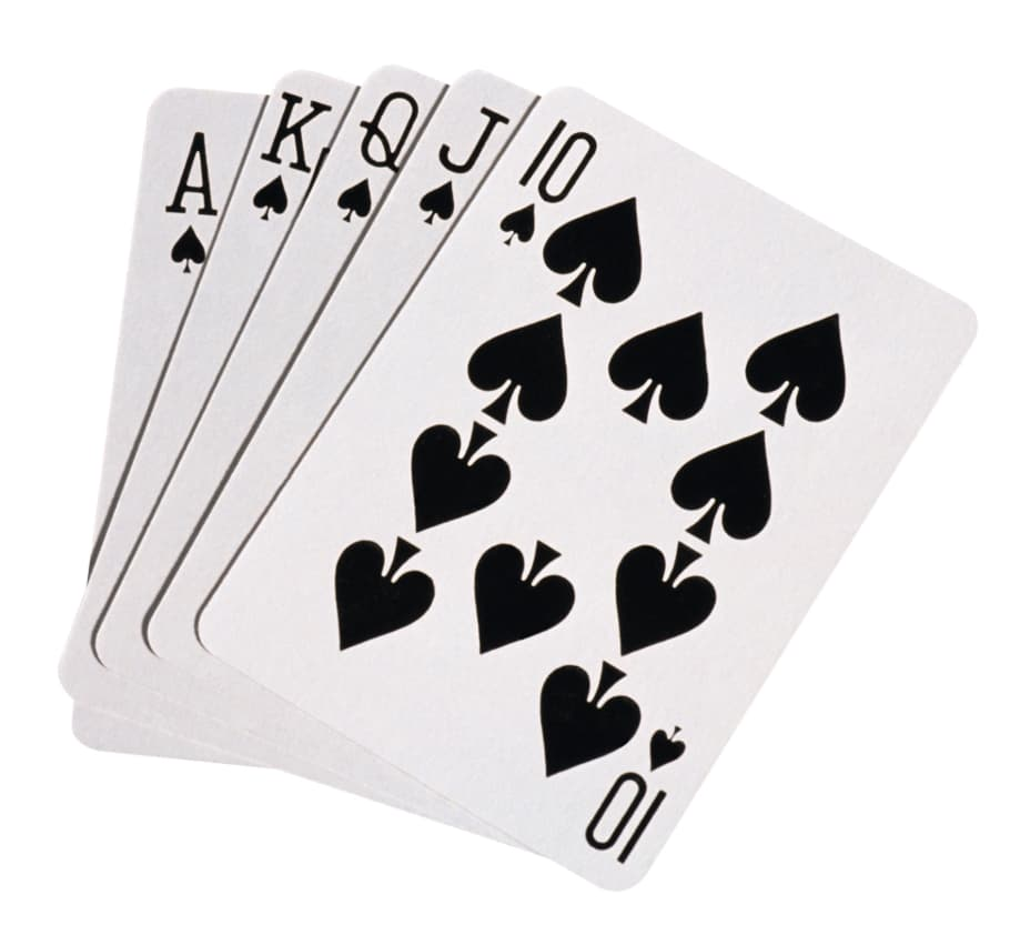 Spillekort Poker Royal Flush