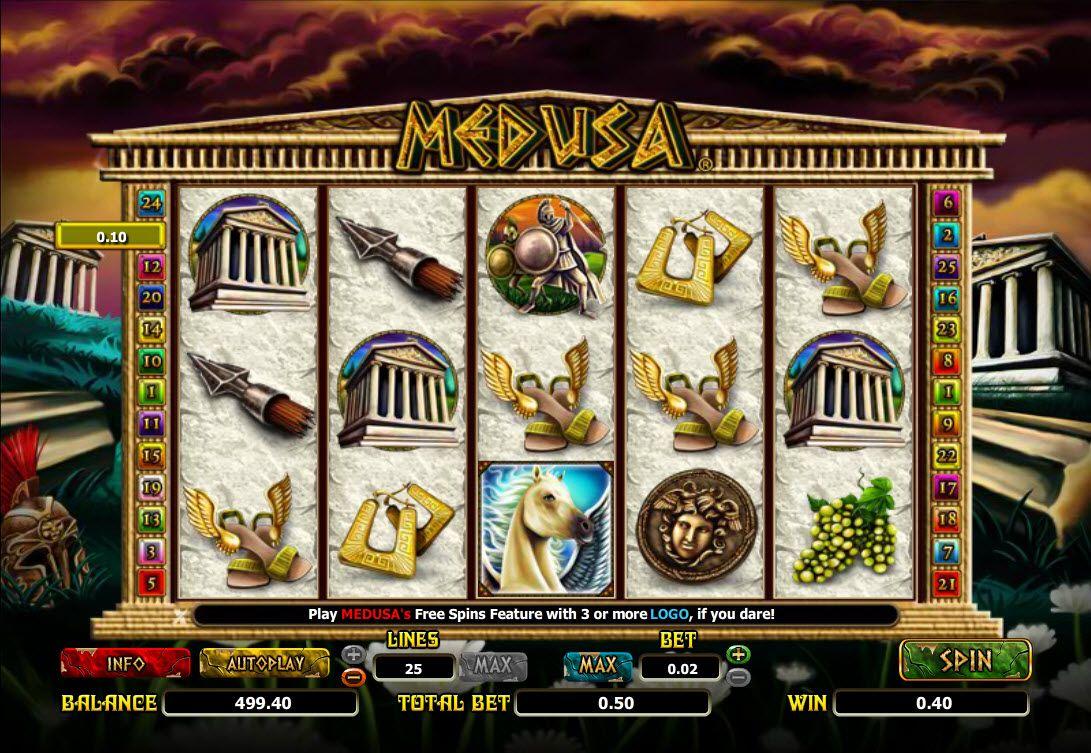 Medusa Spilleplade med Symboler