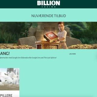 Billion Casino bonusside