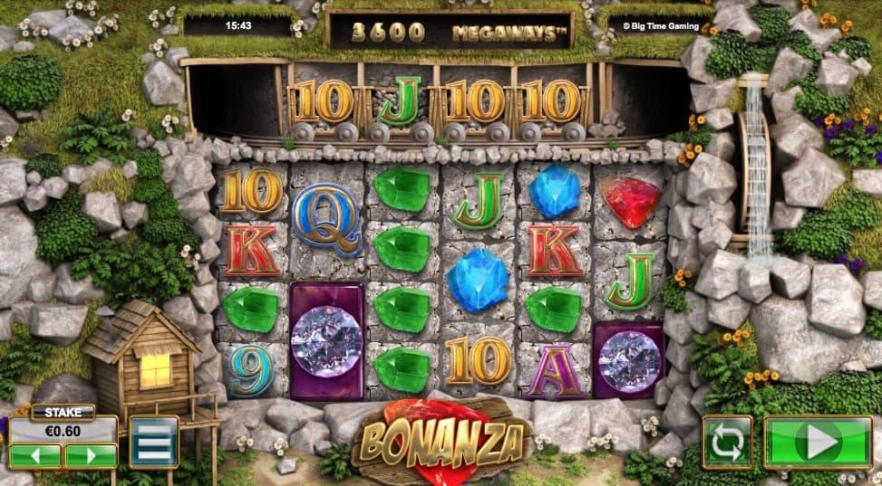 Bonanza spilleplade og symboler
