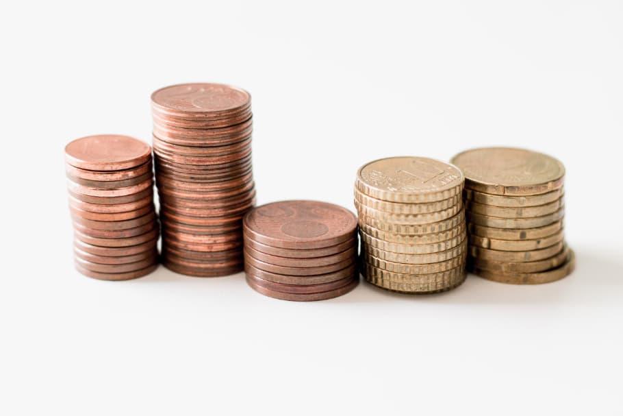 Mønter i Fem Bunker