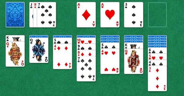 7 Kabale Spilleplade med Spillekort
