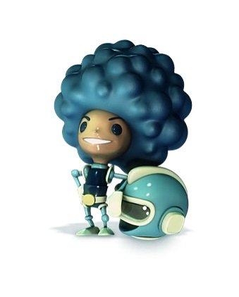 Cosmic Fortune Blå Figur med Rumhjelm